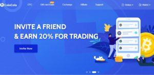 CoinCola cryptocurrency trading platform